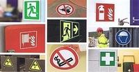 ISO 7010 Sicherheitsschilder: verschiedene Materialien und Größen