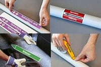 Rohrleitungskennzeichnung nach EU-Richtlinien für mehr Arbeitssicherheit