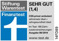 Zahnzusatzversicherungen im Finanztest: CSS Versicherung AG erhält Spitzen-Bewertung