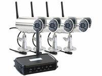 VisorTech Mini-Netzwerk-Überwachungsrecorder mit Funk-Kamera