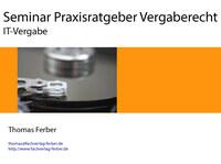 Seminar IT-Vergabe am 09.10.2014 in Berlin