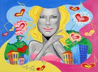 Helene Fischer trifft auf Pop Art Kunst von Tanja Playner