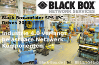 Black Box auf der SPS IPC Drives 2014: Industrie 4.0 verlangt belastbare Netzwerk-Komponenten