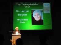 Dr. Lothar Becker als Top-Tagungshotelier 2014 ausgezeichnet