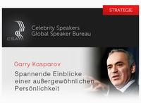 CSA-Redneragentur: Garry Kasparov - eine faszinierende Persönlichkeit!