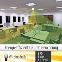 Energiesparende LED-Bürobeleuchtung und Lichtsteuerung