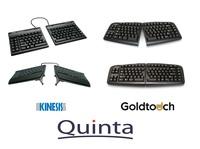 Quinta präsentiert Vertikal Tastaturen von Goldtouch und Kinesis
