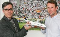 Siegerflieger im Deutschen Fußballmuseum gelandet