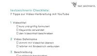 textzeichnerin Checkliste: Tipps zur Video-Verbreitung