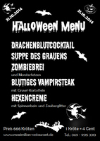 Monsterhaft-schauriges Halloween-Menü im Restaurant Maximilian in Frankfurt am Main