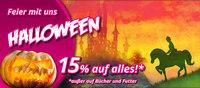 Feiern Sie mit uns Halloween. 15% auf Reitartikel
