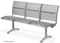 Modulare Bauweise ist auch bei Sitzbänken aus Edelstahl gefragt!