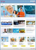 Neue Homepage der TUI Service AG, zentrale Reiseleiter- und Animationsorganisation der World of TUI