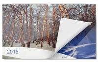 Neu: Wandkalender Panorama von ifolor mit hochglanzveredelten Kalenderseiten