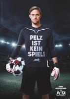 """Timo Hildebrand für PETA: """"Pelz ist kein Spiel!"""""""