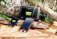 revolt Solar-Powerbank mit 10.000 mAh, Ladestand-Anzeige & USB