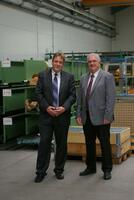 Staatssekretär zu Gast bei der AMI Förder- und Lagertechnik GmbH