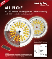 euroLighting: Neue LED Kompaktmodule All-In-One mit AC Direktansteuerung