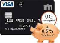 Deutschland Kreditkarte Neukunden- Aktion: 0,5% Cashback*