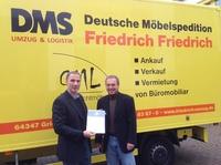Friedrich Friedrich erhält Zertifikat für systematischen Arbeitsschutz