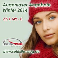 Weihnachten 2014: Augenlasern ab 1149.- Euro!
