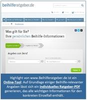 Beamten-Beihilfe und Heilfürsorge: Neuer Online-Ratgeber sorgt für Durchblick im Regelungs-Dschungel