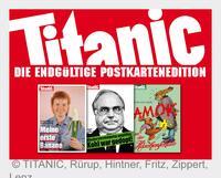 TITANIC: Satire auf Postkarten