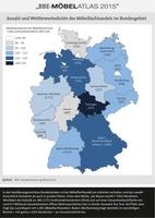 """""""Möbelatlas 2015"""" - Möbelhandel regional: Daten und Fakten von Schleswig-Holstein bis Bayern"""