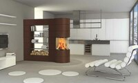 SPARTHERM: Mit Flammen Räume teilen - Hochmoderne Brennzelle hat den Dreh raus