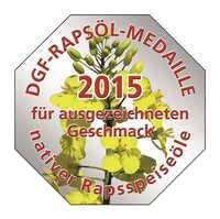 Ausgezeichnet für besten Geschmack  DGF-Rapsöl-Medaille für 26 native Rapsspeiseöle
