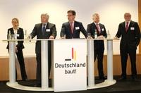 """Messe BAU 2015 Podiumsdiskussion der Initiative """"Deutschland baut! e. V."""""""