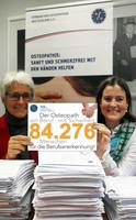 Viele Prominente dabei  Riesige Unterstützung für Unterschriftenkampagne der Osteopathen / VOD: Übergabe am Montag an Bundesgesundheitsminister Gröhe