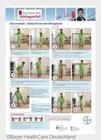 """Schlaganfällen durch leichte Bewegung vorbeugen   Neues Poster """"Klassenerhalt - Einfach fit mit dem Übungsband"""""""