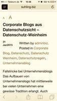 Corporate Blogs aus Datenschutzsicht - Datenschutz-Weinheim