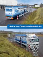 Das Krause Eisfreigerüst: Das ganze Jahr nutzbar dank zweiter Arbeitsplattform