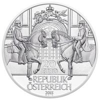 Münze Österreich gestaltet Silbermünze zum Jubiläum: 450 Jahre Spanische Hofreitschule