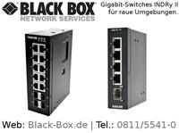 Neuer Gigabit-Switch von Black Box für Einsatz in rauen Industrie-Umgebungen
