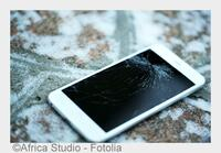 Smartphone: Gut geschützt im Schneegestöber