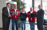 arvato Financial Solutions spendet Laptops an DRK und JRK Baden-Baden