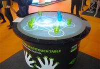 eyefactive präsentiert ersten runden MultiTouch Tisch auf der ISE