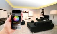 Lunartec WLAN-Adapter für Smartphone-Fernsteuerung von LED-Streifen