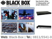 4 Videoquellen auf einem Bildschirm mit neuem KVM-Switch von Black Box