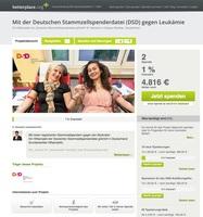 Fundraising für die Deutsche Stammzellspenderdatei (DSD) gGmbH
