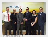 Farnell element14 erhält Award von Phoenix Contact für herausragende Umsatzsteigerung in 2014