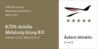 "KFM-Mittelstandsanleihen-Barometer - Die ""8,75%-Metalcorp-Anleihe"" (UPDATE)"