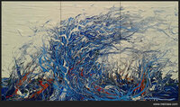 Künstler und Maler Friedhelm Meinaß präsentiert Bilderzyklus Earth, Wind, Rain & Fire