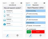 Refixo die iOS App für den bequemen Reparaturpreisvergleich