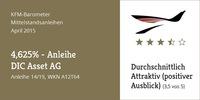 "KFM-Mittelstandsanleihen-Barometer - Die ""4,625%-DIC Asset-Anleihe"""
