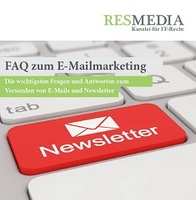 Kostenloses Booklet: FAQ zum E-Mailmarketing der Kanzlei RESMEDIA