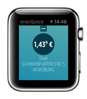 EnerQuick navigiert per Smartwatch zur günstigsten Tankstelle im Umkreis
